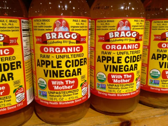 apple cider vinegar can help to calm stomach aches