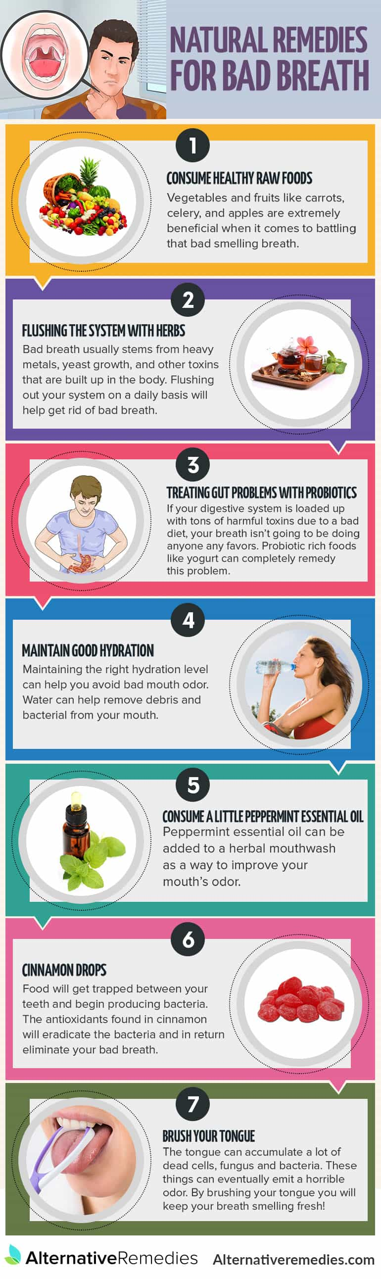 infrograhpic bad breath remedies