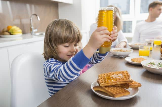 honey is great at suppressing your cough and easing your sore throat