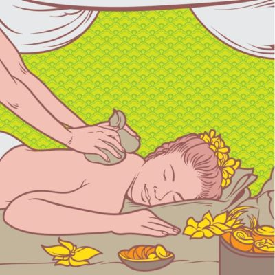 use a hot compress to reduce shoulder pain