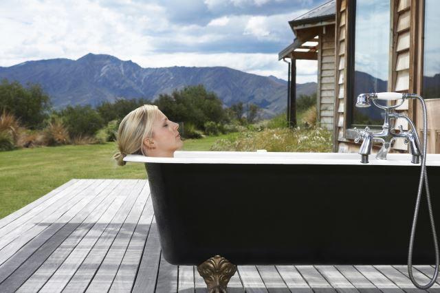 Soaking in a epsom salt bath will help reduce the pain